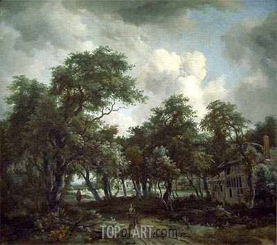 Meindert Hobbema | Hut among Trees, c.1664