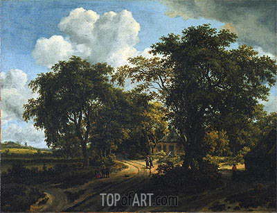 A Cottage in the Woods, c.1662 | Meindert Hobbema| Painting Reproduction