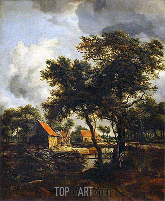The Water Mill, 1692 | Meindert Hobbema| Gemälde Reproduktion