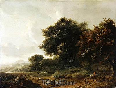 Landscape, undated | Meindert Hobbema | Painting Reproduction