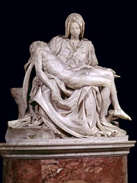 Pieta, 1498/99 by Michelangelo | Painting Reproduction