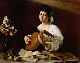 The Lute Player, c.1595 von Caravaggio | Gemälde-Reproduktion