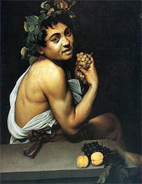 Sick Bacchus (Self-Portrait as Bacchus), c.1592/93 von Caravaggio | Gemälde-Reproduktion