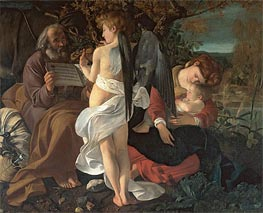 The Rest on the Flight into Egypt, c.1595 von Caravaggio | Gemälde-Reproduktion