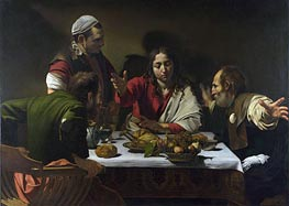 The Supper at Emmaus, 1601 von Caravaggio | Gemälde-Reproduktion