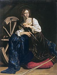 Saint Catherine of Alexandria, c.1598/99 by Caravaggio | Painting Reproduction