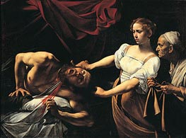 Judith Beheading Holofernes, c.1599/00 by Caravaggio | Painting Reproduction