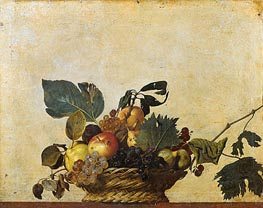 Basket of Fruit, c.1596/97 von Caravaggio | Gemälde-Reproduktion