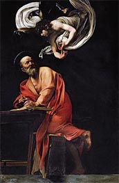 Saint Matthew and the Angel, 1602 von Caravaggio | Gemälde-Reproduktion
