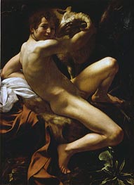 Saint John the Baptist, 1602 by Caravaggio | Painting Reproduction