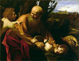 The Sacrifice of Isaac, c.1603 by Caravaggio | Painting Reproduction