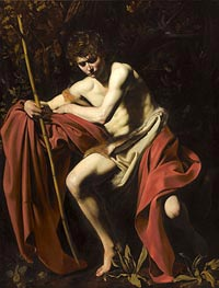 Saint John the Baptist, c.1603/04 by Caravaggio | Painting Reproduction