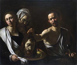 Salome Receives the Head of John the Baptist, c.1607/10 by Caravaggio | Painting Reproduction