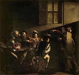The Calling of Saint Matthew, 1599 by Caravaggio | Painting Reproduction