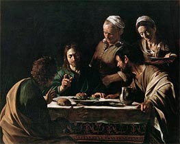 Supper at Emmaus, 1606 by Caravaggio | Painting Reproduction