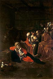 Adoration of the Shepherds, 1609 by Caravaggio | Painting Reproduction