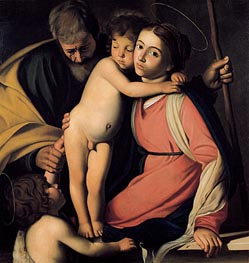 The Holy Family with Saint John the Baptist, undated by Caravaggio | Painting Reproduction