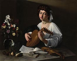 The Lute Player, undated by Caravaggio | Painting Reproduction