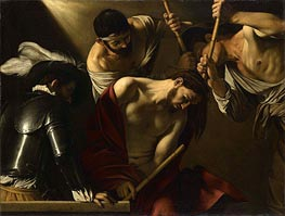 Crowning with Thorns, c.1606 by Caravaggio | Painting Reproduction