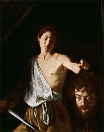 David with the Head of Goliath, 1606 by Caravaggio | Painting Reproduction