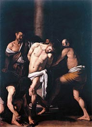 Flagellation, 1607 by Caravaggio | Painting Reproduction
