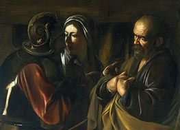 The Denial of Saint Peter, undated by Caravaggio | Painting Reproduction