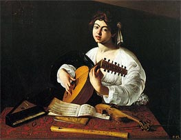 Lute Player, c.1600 by Caravaggio | Painting Reproduction