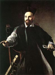 Portrait of Monsignor Maffeo Barberini, 1603 by Caravaggio | Painting Reproduction