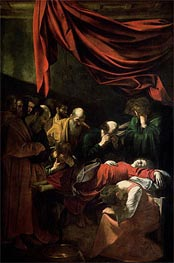 The Death of the Virgin, 1605 by Caravaggio | Painting Reproduction