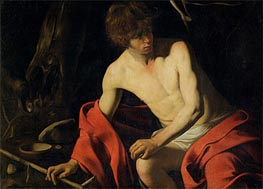 Saintt John the Baptist, c.1605/06 by Caravaggio | Painting Reproduction