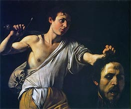 David with the Head of Goliath, c.1607 by Caravaggio | Painting Reproduction