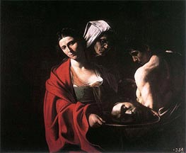 Salome with the Head of Saint John the Baptist, c.1608/10 by Caravaggio | Painting Reproduction