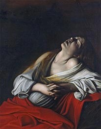 Mary Magdalen in Ecstasy, 1610 by Caravaggio | Painting Reproduction