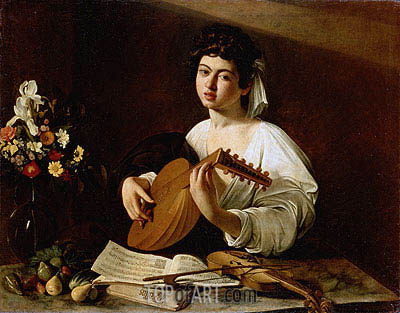 The Lute Player, c.1595 | Caravaggio| Gemälde Reproduktion