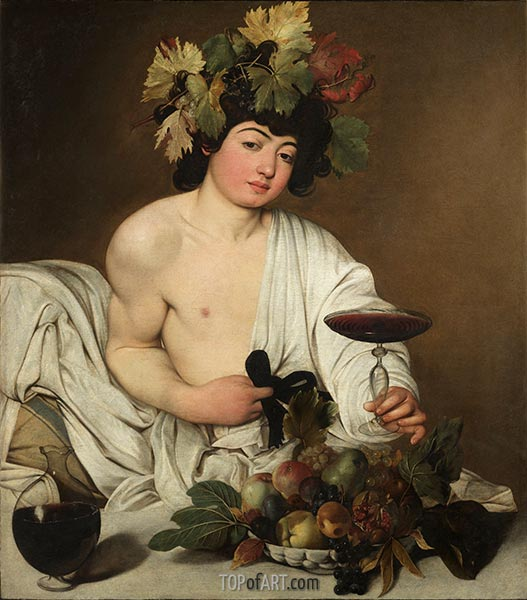 Bacchus, c.1597 | Caravaggio | Painting Reproduction