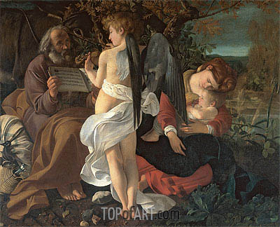 The Rest on the Flight into Egypt, c.1595 | Caravaggio| Painting Reproduction