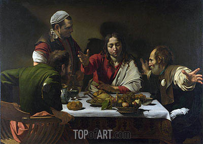 The Supper at Emmaus, 1601 | Caravaggio| Painting Reproduction