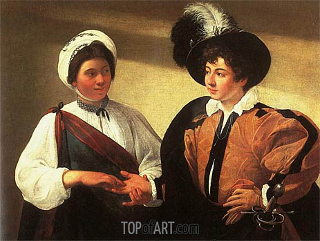 The Fortune Teller (La Zingara), c.1596/97 | Caravaggio| Painting Reproduction