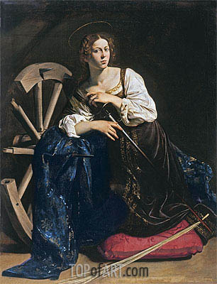 Saint Catherine of Alexandria, c.1598/99 | Caravaggio | Painting Reproduction