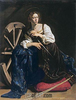 Caravaggio | Saint Catherine of Alexandria, c.1598/99