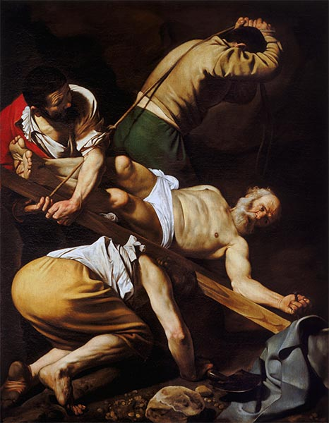 The Crucifixion of Saint Peter, c.1600/01 | Caravaggio| Painting Reproduction