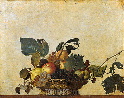Caravaggio | Basket of Fruit, c.1596/97