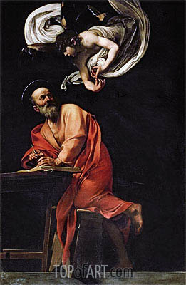 Saint Matthew and the Angel, 1602 | Caravaggio| Gemälde Reproduktion