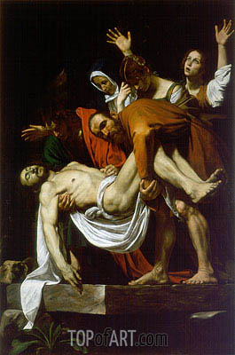 The Entombment (Deposition), c.1602/04 | Caravaggio| Gemälde Reproduktion