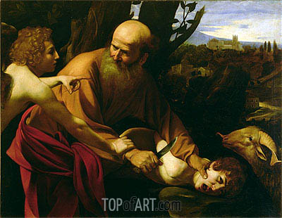 The Sacrifice of Isaac, c.1603 | Caravaggio| Painting Reproduction