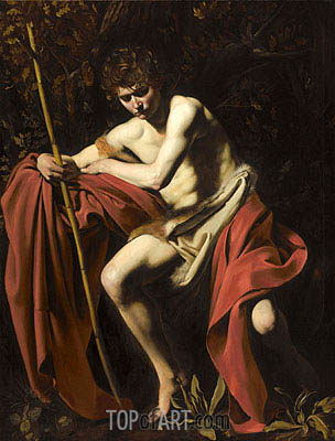 Saint John the Baptist, c.1603/04 | Caravaggio| Painting Reproduction