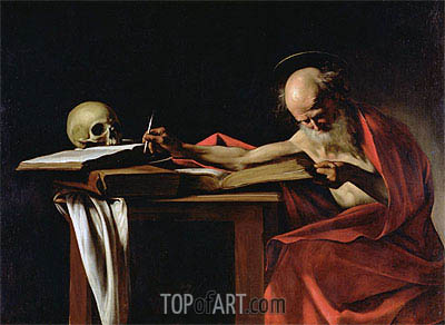 Caravaggio | Saint Jerome Writing, c.1604/06
