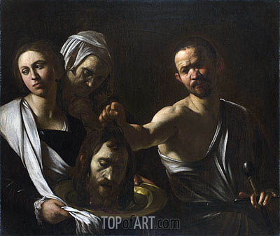 Salome Receives the Head of John the Baptist, c.1607/10 | Caravaggio | Gemälde Reproduktion