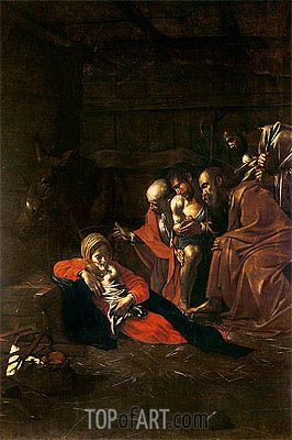 Adoration of the Shepherds, 1609 | Caravaggio | Gemälde Reproduktion