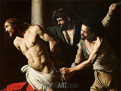 The Flagellation of Christ, c.1605/07 | Caravaggio| Painting Reproduction